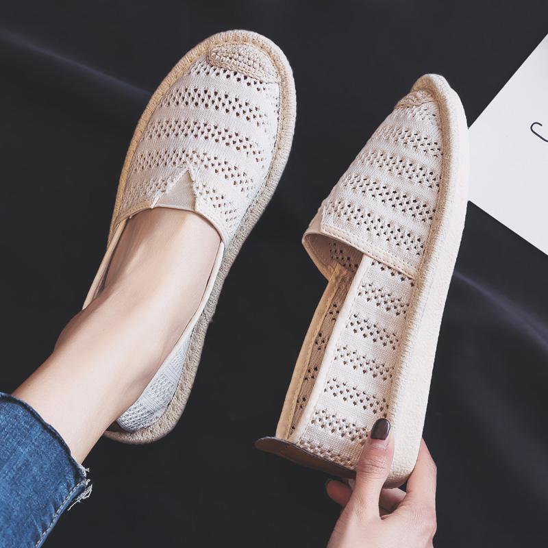 夏季一脚蹬懒人渔夫鞋护士小白鞋子