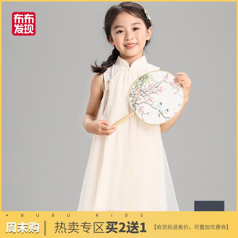 布布发现童装女童旗袍裙2019年夏新款中国风儿童连衣裙小女孩唐装