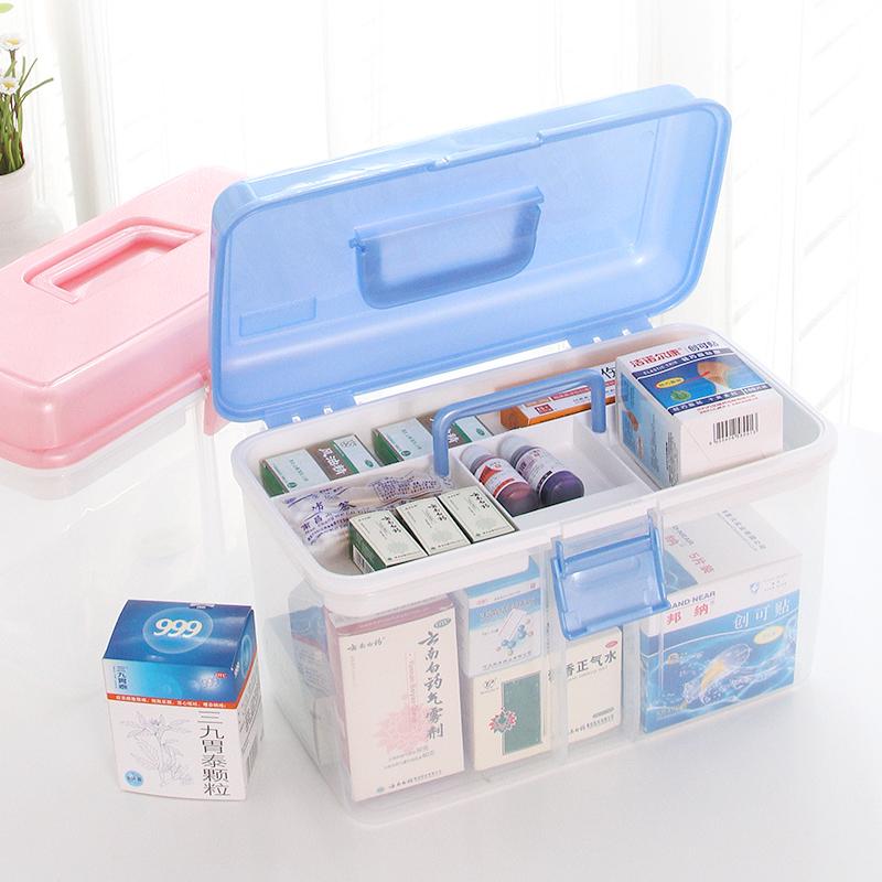 茶花塑料醫藥箱大號收納箱多 醫用藥品箱兒童寶寶多層醫療箱