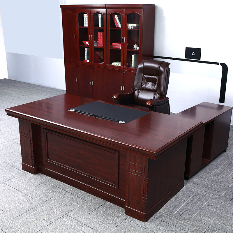 Bosss desk solid wood 1.6m presidents desk paint big desk 1.8m office furniture managers desk chair combination