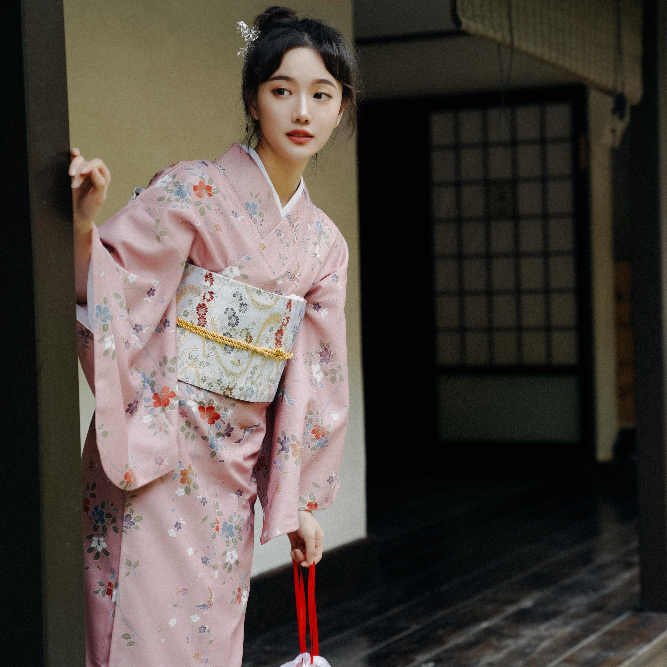 限时赏味少女日本浴衣复古日系摄影道具改良和服梦里花落知多少