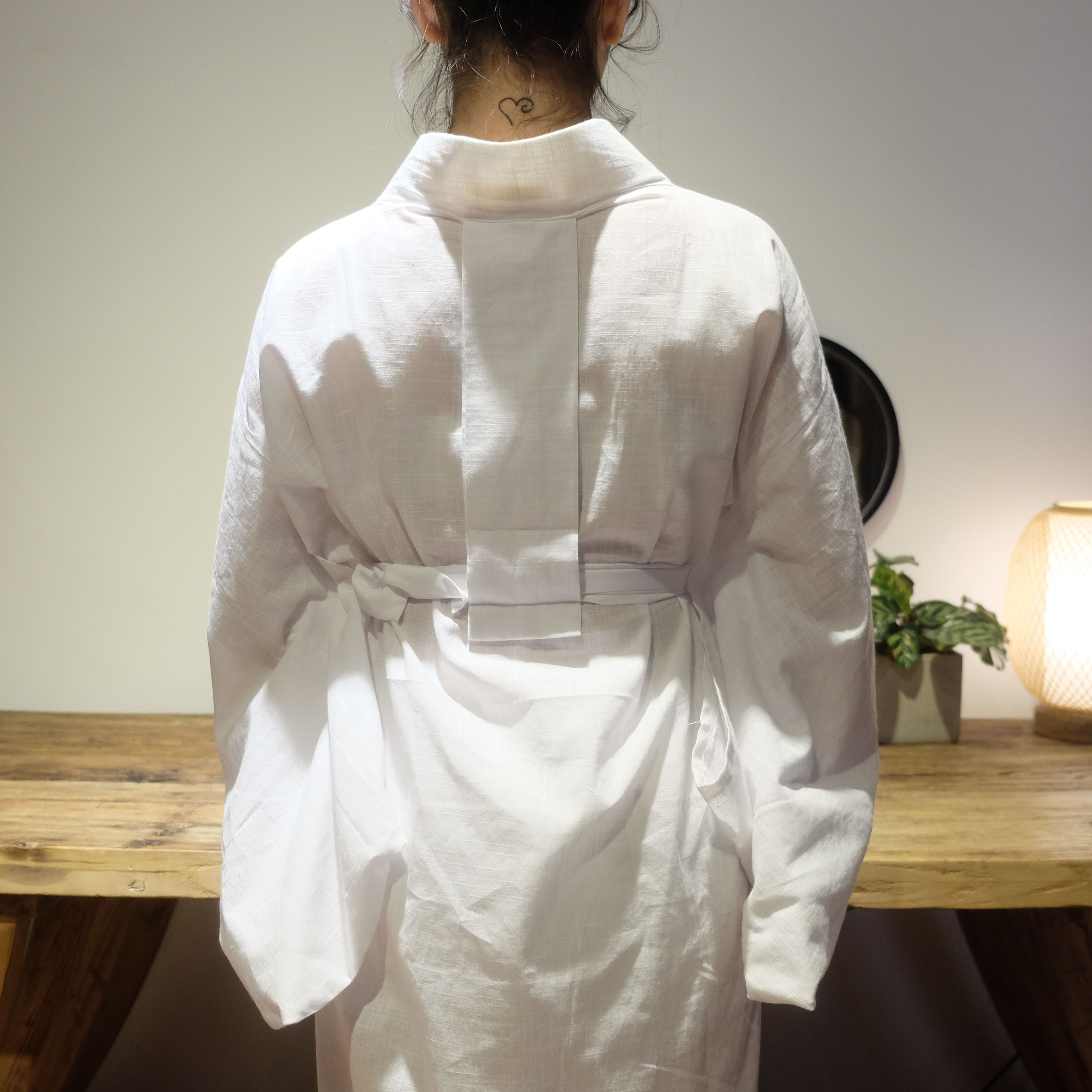 限时赏味 日本和服浴衣羽织白色内搭平纹棉肌襦袢 包含领芯