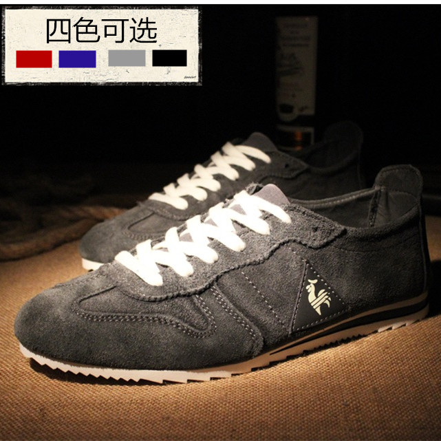 Spring and autumn anti suede frosted real cowhide Forrest Gump shoes French style Rooster sports leisure running mens board shoes fashion