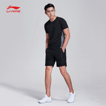 Li Ning set mens 2018 new training series short sleeves mens shorts sportswear AWBN003