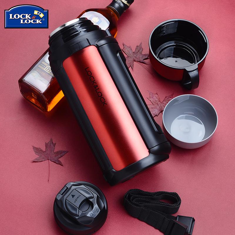 樂扣樂扣保溫壺 旅行壺大容量不鏽鋼保溫杯水杯子車載熱水壺