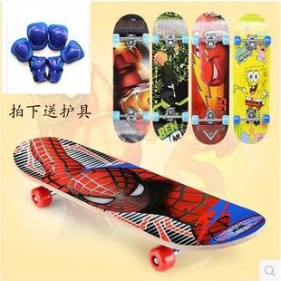 儿童四轮滑板车初学者小学生宝宝男女4 12闪光轮小孩青少年双撬板
