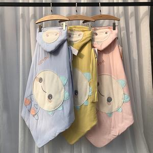 新生婴儿宝宝包被纯棉可水洗春秋款可爱初生新生儿抱被婴童用品