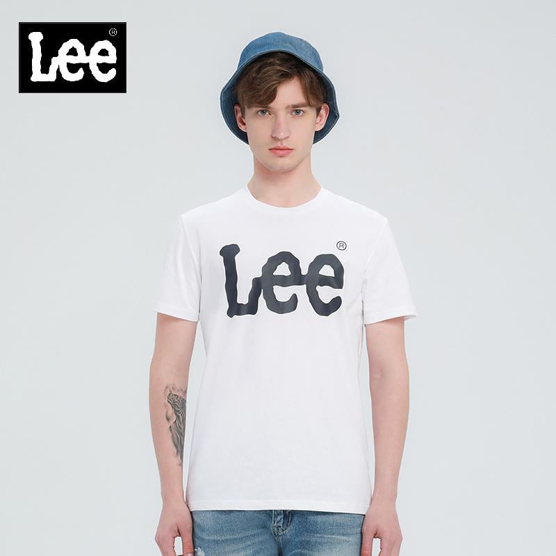 lee商场同款白色短袖男上衣t恤