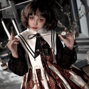 兔子柄JSK哥特风暗黑系洛丽塔连衣裙 原创现货崩坏兔偶lolita无袖