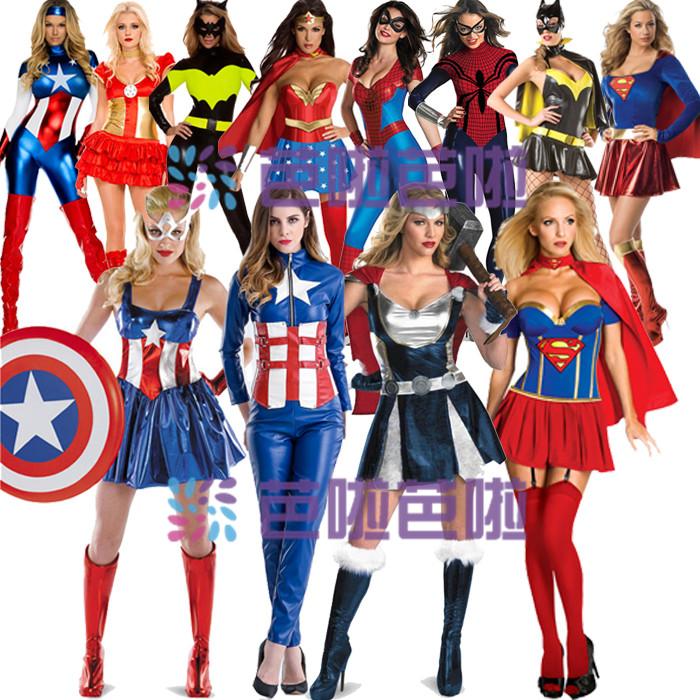 动漫cos美国电影 超人装蝙蝠装女超人角色扮演万圣节服装COSPLAY
