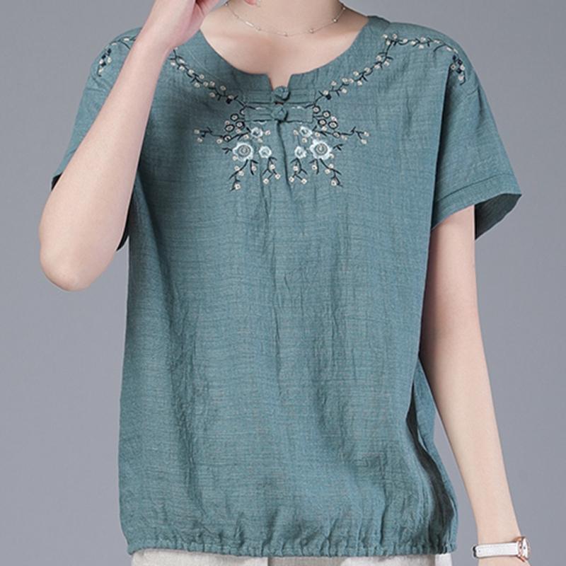 短袖T恤衫女2020年新款夏装时尚中年妈妈韩版宽松舒适上衣小衫女