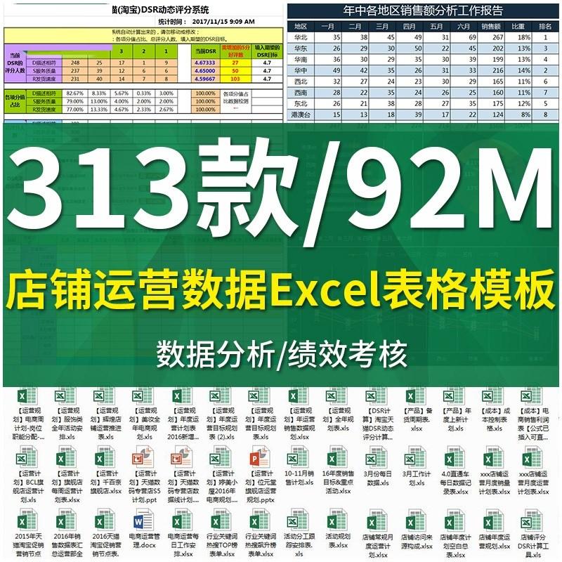 G375-电商淘宝店铺运营客服Excel表格空白模板数据登记表创意