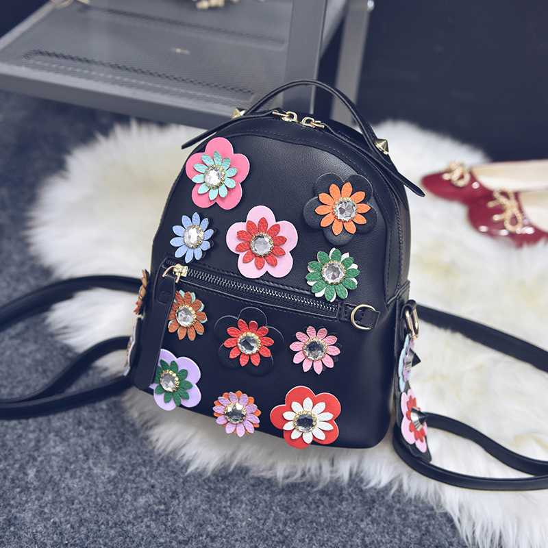 Рюкзак девушка корейской версии институт сладкий диких цветов мешок рюкзак мешок большой звезды шоу