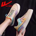 回力ow联名樱花女鞋空军一号马卡龙运动鞋夏季2021新款休闲板鞋女