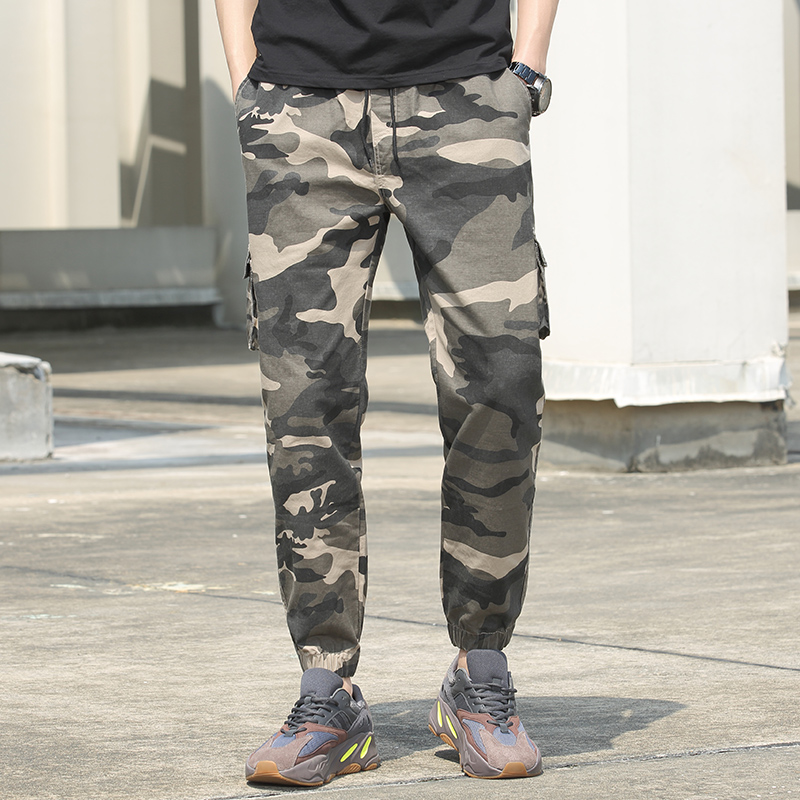 Autumn and winter mens sports pants pants thin cotton large casual pants overalls