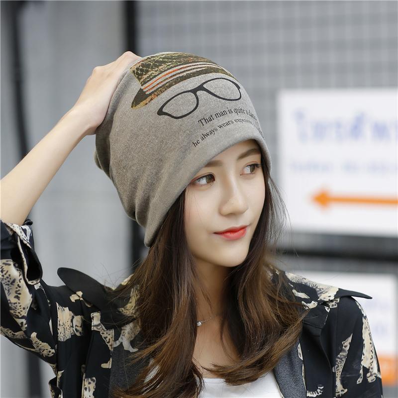 百搭春秋帽子女韩版时尚套头帽头巾帽保暖多功能睡帽月子帽包头帽
