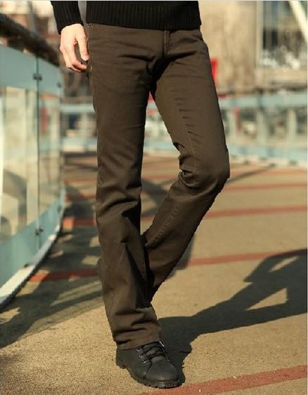Promotion British slim low waist slim four seasons long cotton elastic fabric classic micro trumpet mens casual pants
