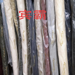 日本进口大牌原版宾霸斜平纹里衬高端丝滑全棉100%铜氨丝布料面料