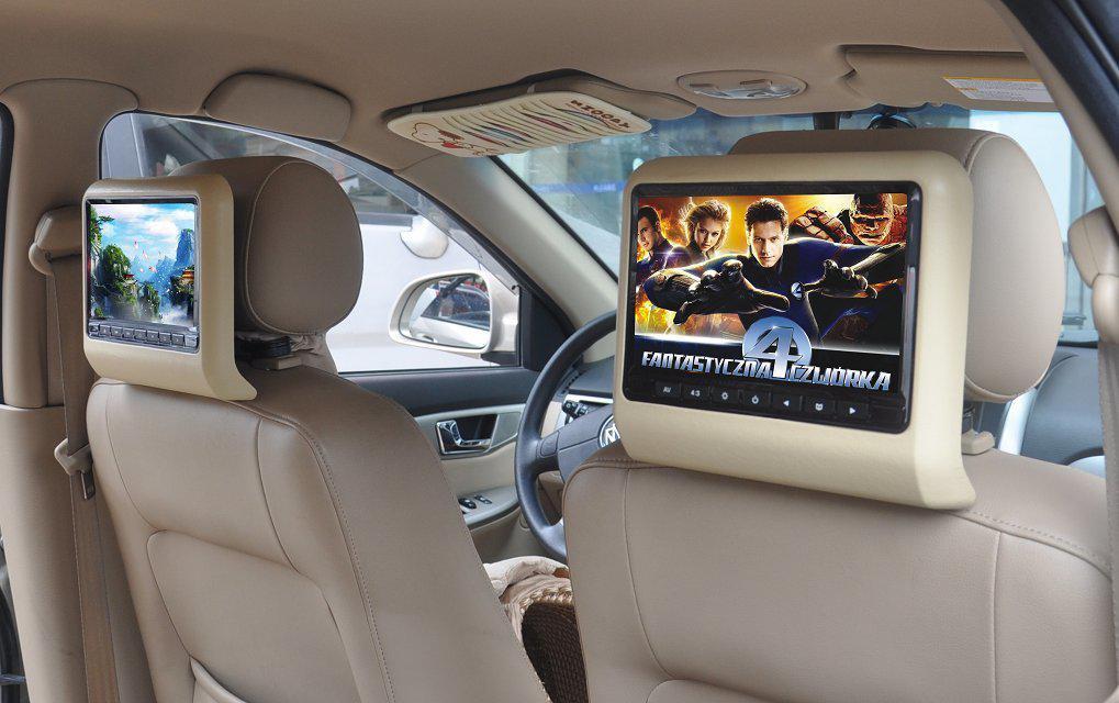 9寸车载头枕DVD显示器高清外挂汽车靠枕液晶屏后排后座影音娱乐