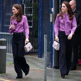 2020春装新款阔腿裤垂感长裤英国凯特王妃同款时尚职业女裤套装女