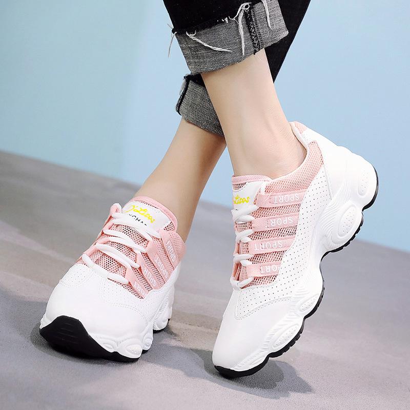 2019春季新款女运动鞋韩版超火的鞋轻便休闲学生跑步鞋老爹鞋14