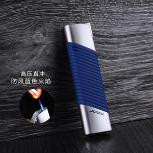 金属电镀超薄长条直冲蓝火打火机充气防风创意实用栅格送男友礼品