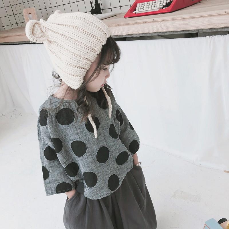 舒�m耐看�n��定制18春秋男女童棉麻T文�范�和�波�c棉麻�r衫214