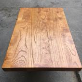 定制实木板老榆木餐桌面板原木吧台面板公办桌茶桌整张2米长大板