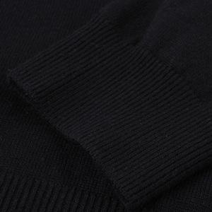 马克华菲长袖针织套头衫男冬季新品贴布刺绣时尚上袖上衣