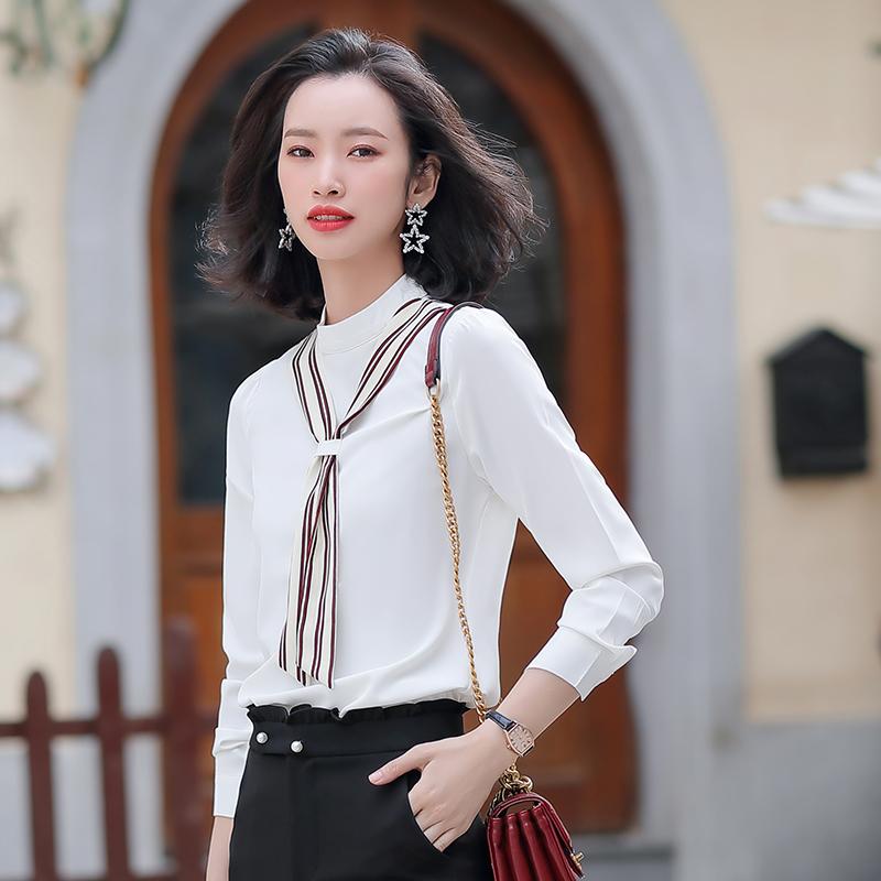职业装衬衫女设计感小众拼接衬衣大学生面试穿搭女生正装两件套春