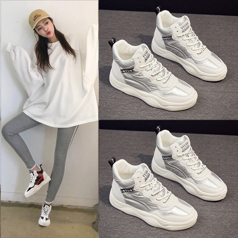 High top shoes womens shoes 2021 new spring versatile spring pop pop board shoes