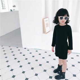 女童洋气春秋季新款弹力修身连衣裙