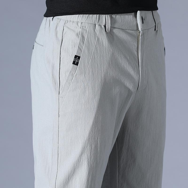 热销0件需要用券2019新款夏天九分男士修身休闲裤子