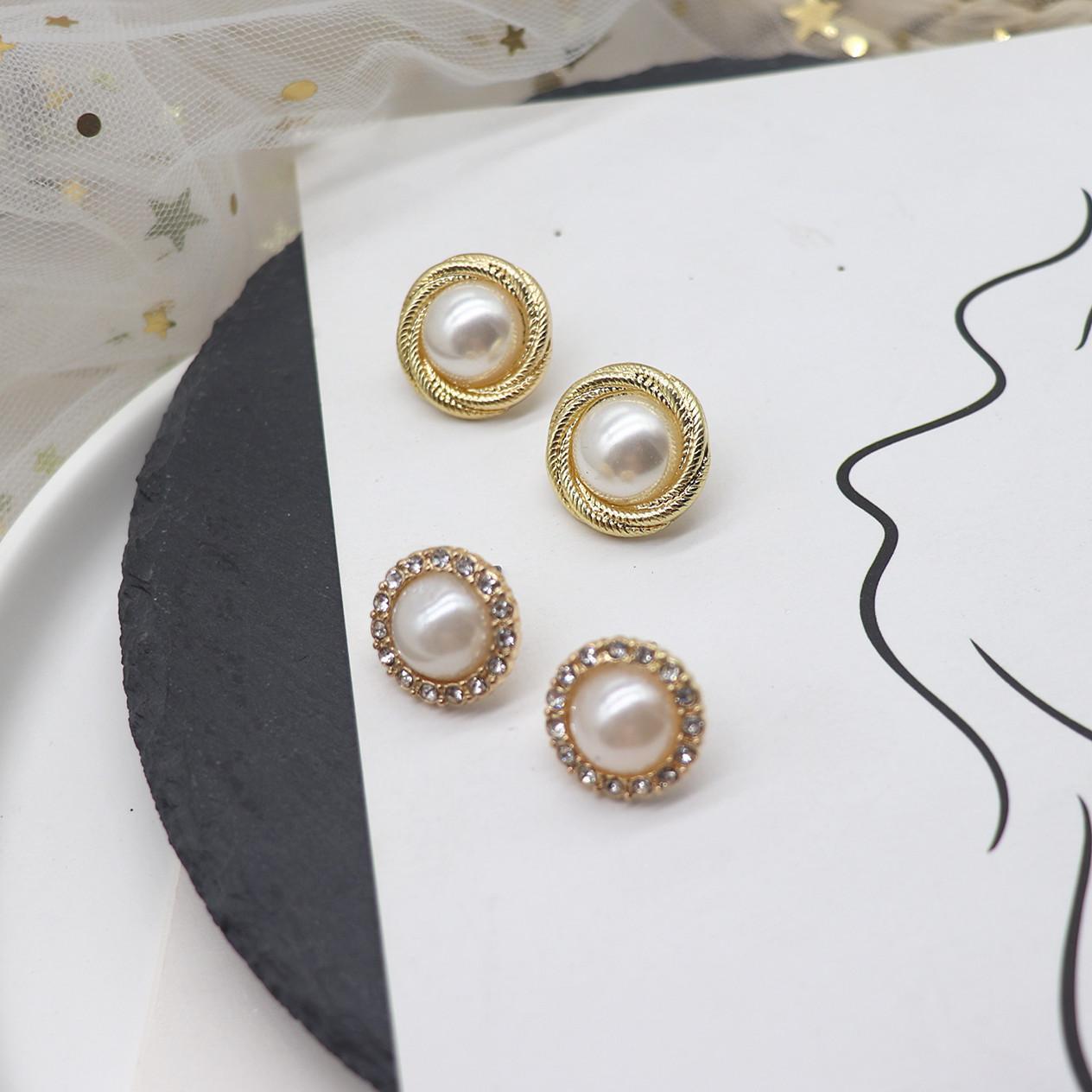 Japan and South Korea pearl girl ear jewelry, minority, commuting and versatile student Pearl Earrings temperament earrings earrings, female