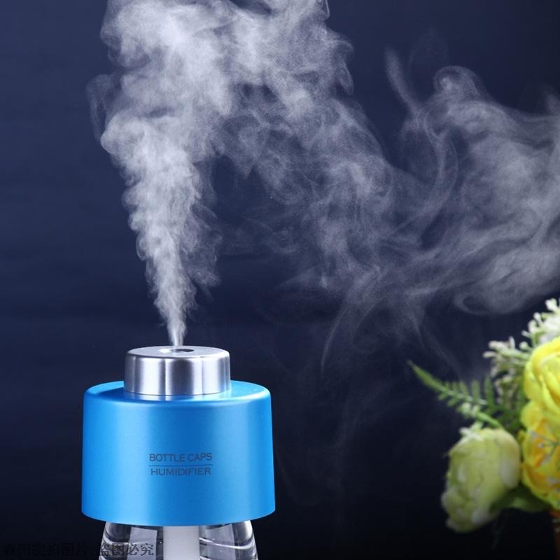 [春田外贸商会加湿器]韩款爆款迷你USB水瓶盖加湿器 香薰月销量0件仅售37.06元