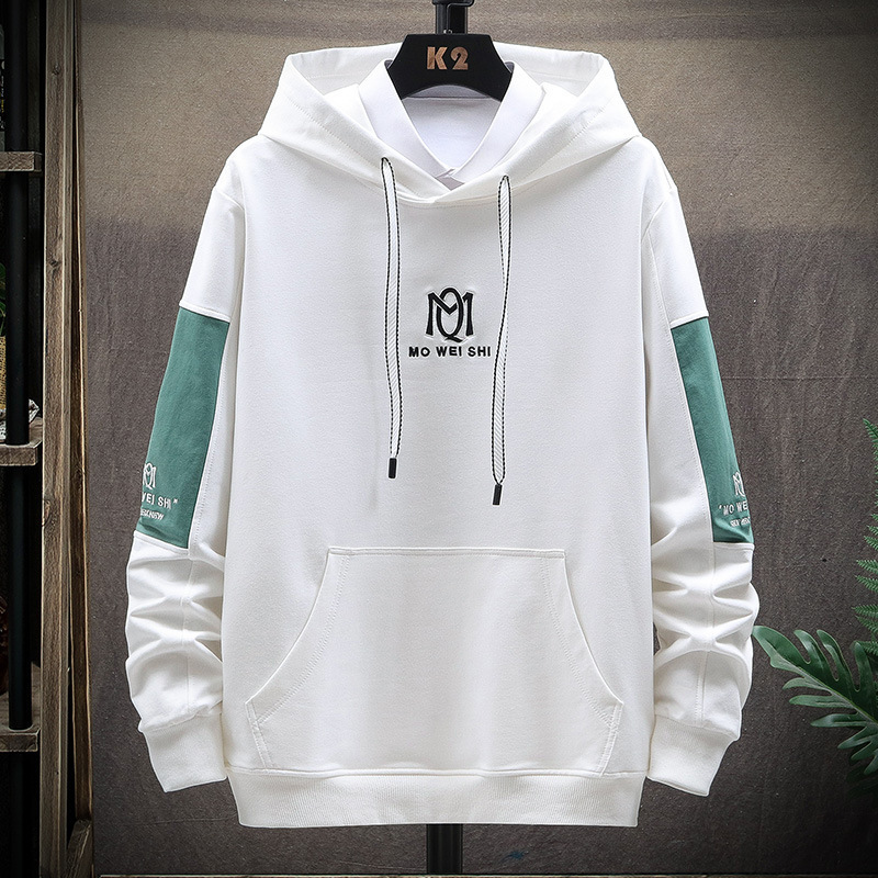 18-19-20-21 years old mens long sleeve sweater hooded Pullover coat mens bottoming shirt fashion young college students