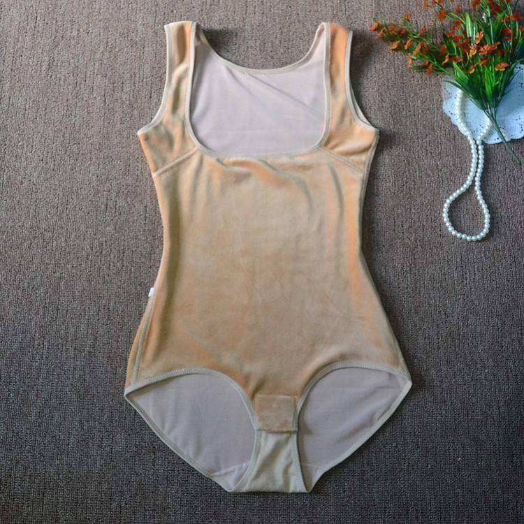 秋冬季加厚加绒保暖连体塑身内衣保暖内衣 瘦身束身衣女产后哺乳