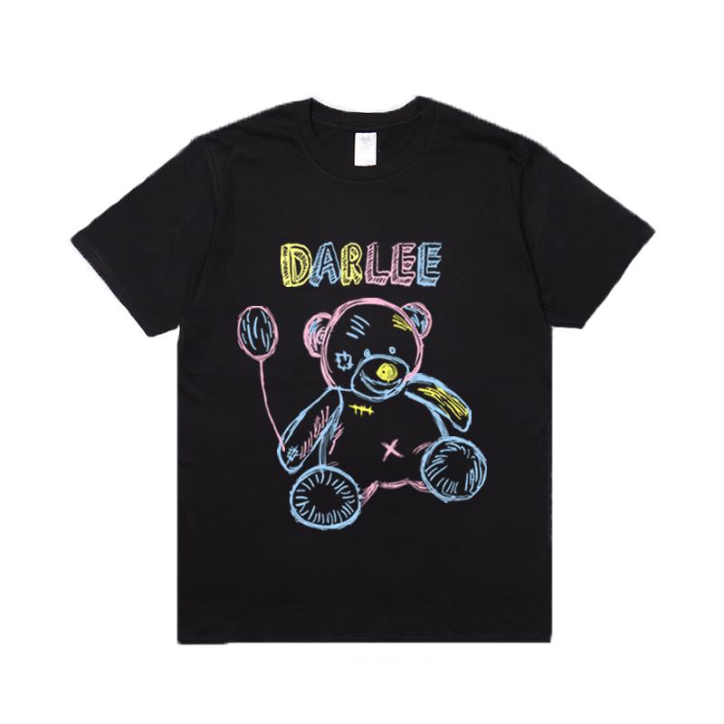 billkong可爱幼稚园小熊印花短袖男女青少年宽松半袖T恤夏ins潮牌
