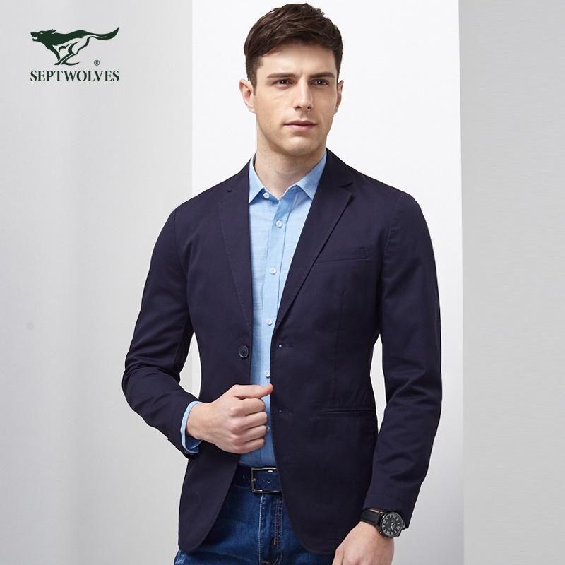 七匹狼单件西服 2017新款青年男士时尚商务休闲单西品牌男装外套
