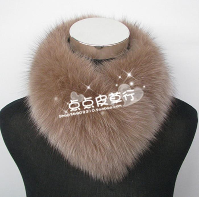 Fox fur scarf neck real fur fake collar fur scarf fur collar square collar clip warm winter girl special price