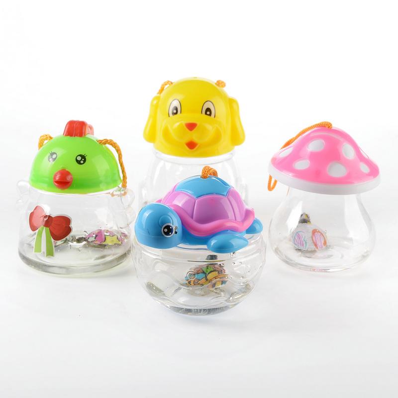 封闭式qq鱼瓶qq龟瓶qq鱼缸乌龟瓶迷你鱼缸手提塑料小鱼缸特价