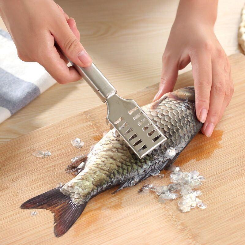 鱼鳞刨刮鱼鳞器创意不锈钢去鳞刮鱼器杀鱼刮鱼去鳞器刷子