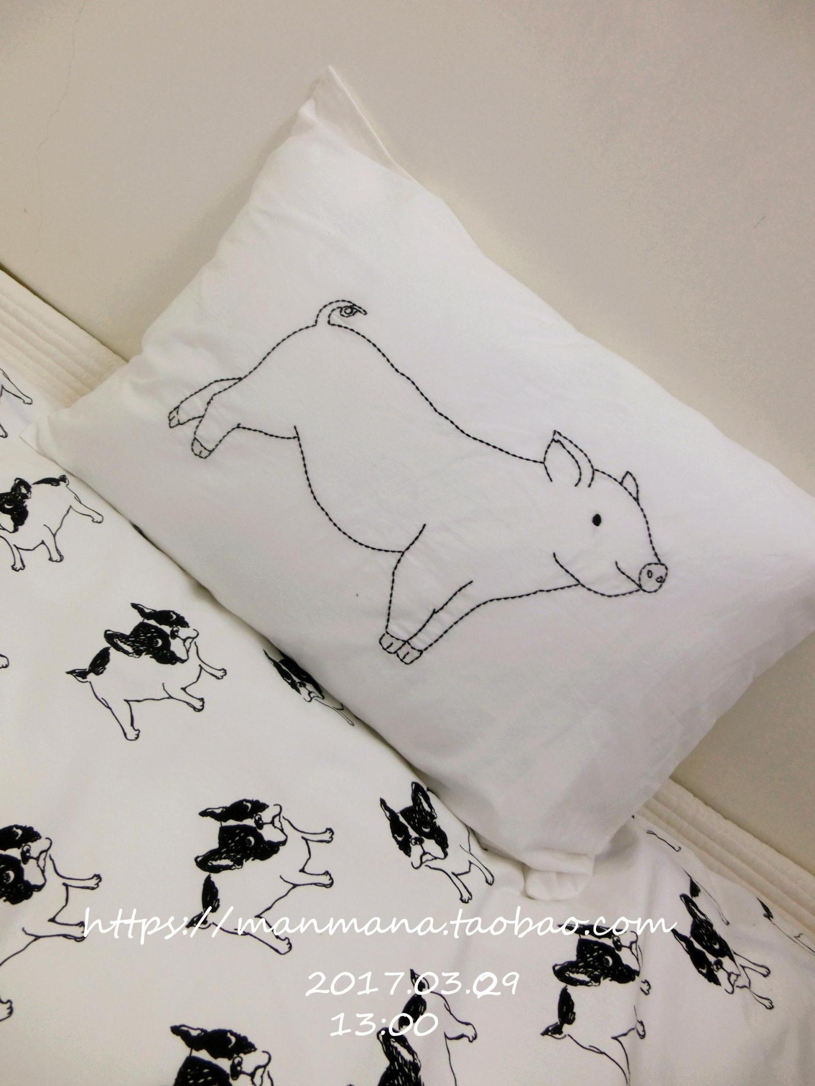【manmana】 мясо мясо свинья Молодые животные наволочка подушка --- свинья Молодые животные