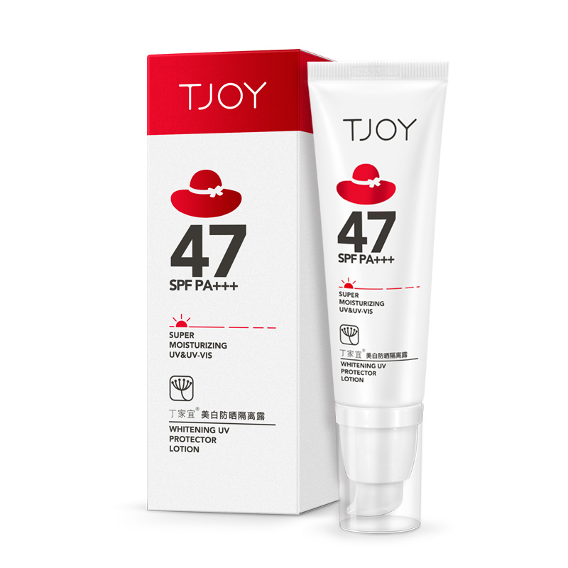 TJOY whitening sunscreen lotion, isolation spf47, sunscreen, skin care, military training, authentic mail.