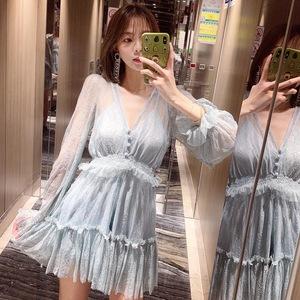 小个子网纱两件套初秋女装 显瘦蕾丝连体裤旅游度假海边沙滩短裤