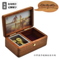 定制DIY刻字木质首饰盒音乐盒八音盒女生生日礼品创意情人节礼物