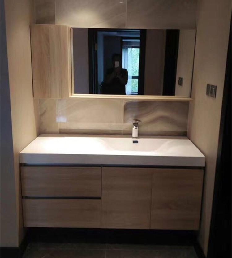 (用1元券)多尺寸可定制北欧浴室柜新款台盆卫浴柜现代简约洗脸盆组合洗漱台