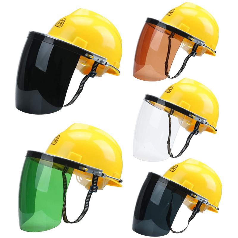 安全帽面屏电焊打磨?#33713;?#20987;防飞溅支架面屏防护面罩配强化式面罩