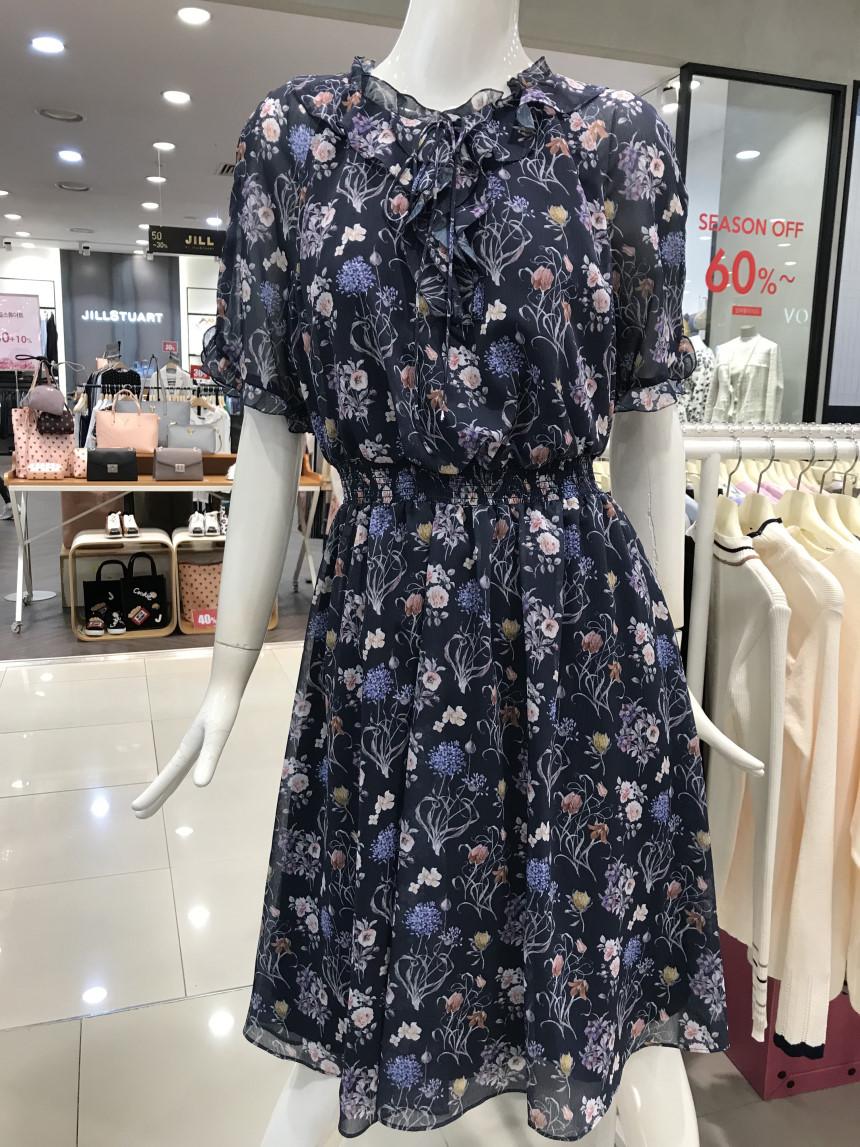 直送  正品�n��代� OLIVE DES OLIVE漂亮�r尚碎花�B衣裙OW7AO106