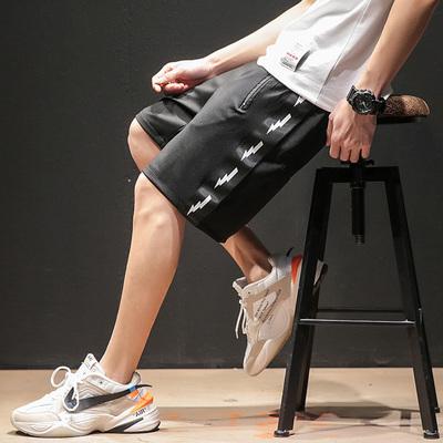 日系黑墙风夏季男士五分裤短裤休闲大码 款号K599 P45【控68】